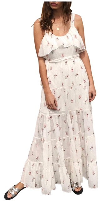 Item - White Red Anthropologie Tevin Festival Boho Ruffle Long Casual Maxi Dress Size 16 (XL, Plus 0x)