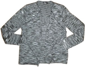 Erika Built In Front Cardigan Charcoal/Black Sweater