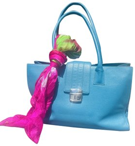 Levenger Totebag Leather Tote in Blue