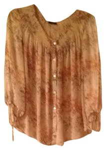 Talbots Top Multi tan/gold/brown
