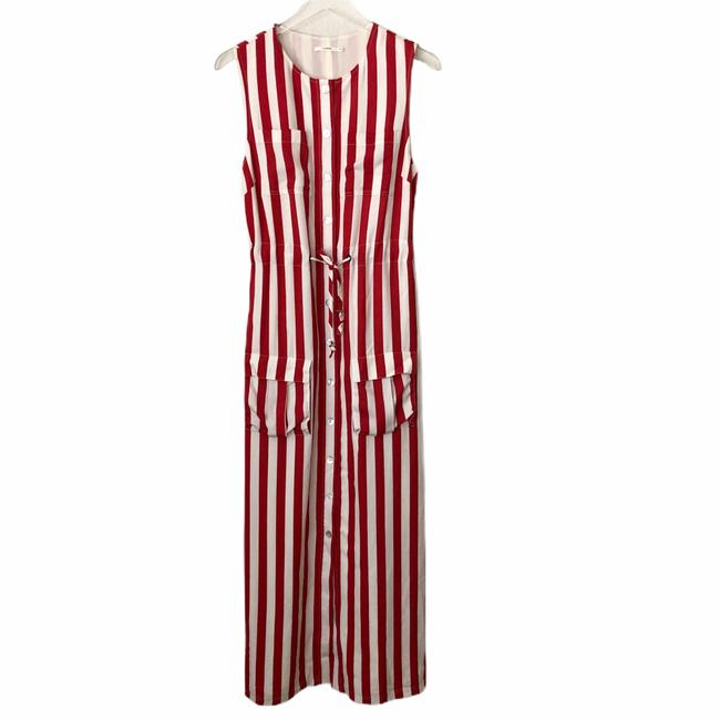 Item - Red / Ivory Revolve Long Casual Maxi Dress Size 4 (S)