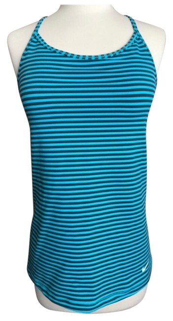 Nike Teal Black Dry-fit Training Tank Top/Cami Size 8 (M) Nike Teal Black Dry-fit Training Tank Top/Cami Size 8 (M) Image 1