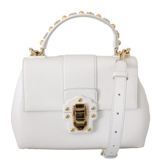 Preload https://img-static.tradesy.com/item/27528377/dolce-and-gabbana-lucia-borse-purse-white-leather-shoulder-bag-0-0-540-540.jpg