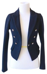 Fitted Tailored Navy Blue Blazer