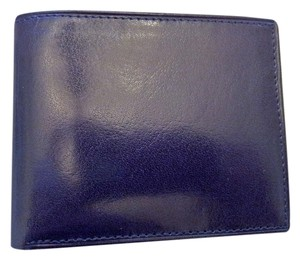 Men's Foldover Black Leather Wallet.