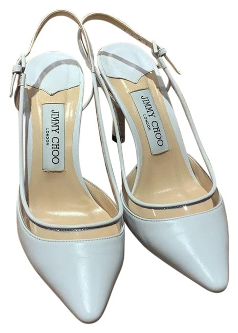 Item - White Slingback Pumps Size US 7.5 Regular (M, B)