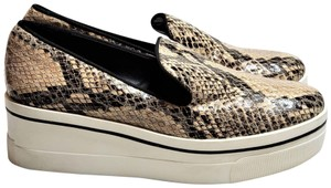 Stella McCartney Python Wedge Loafer Vegan Binx Brown Tan White Platforms