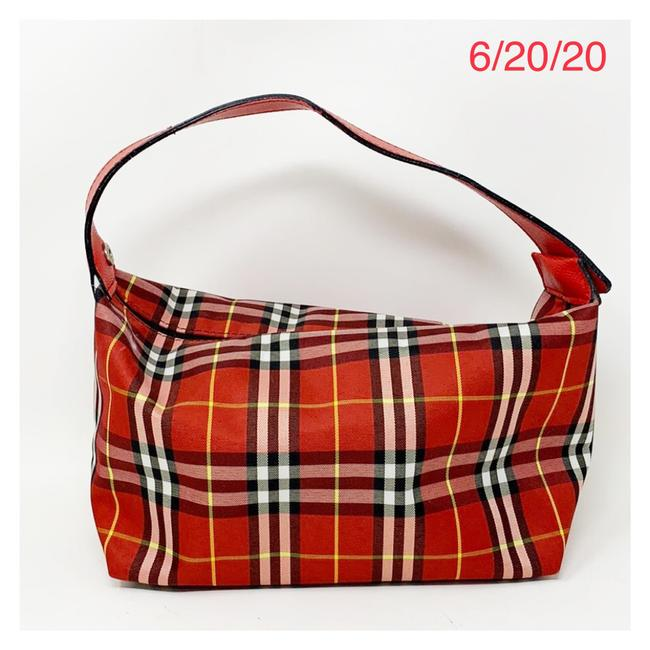 Burberry Red Canvas Satchel Burberry Red Canvas Satchel Image 1