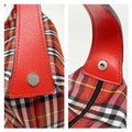 Burberry Red Canvas Satchel Burberry Red Canvas Satchel Image 8