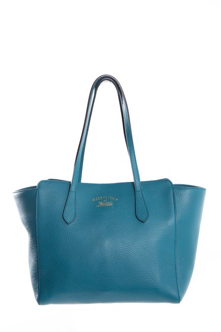 Item - Swing Leather Teal Tote