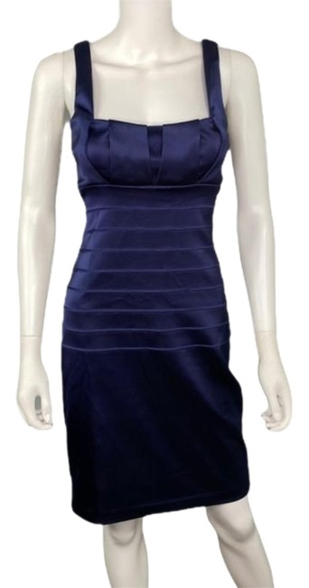 Item - Blue Bodycon Mid-length Formal Dress Size 6 (S)