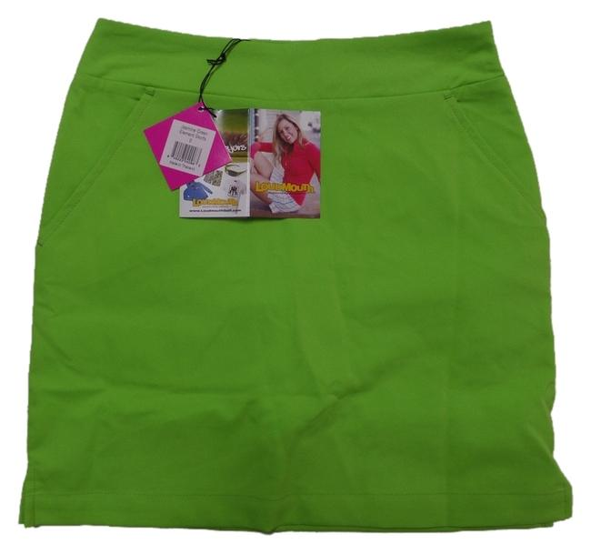 Loudmouth New With Tags Ladies LOUDMOUTH Green Athletic GOLF SKORT Skirt with Shorts. Size 0.