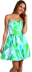 Lilly Pulitzer short dress Blue/green/white on Tradesy