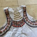 Vestique Embroidered Patterned Crop Large White and Pink Top Vestique Embroidered Patterned Crop Large White and Pink Top Image 2