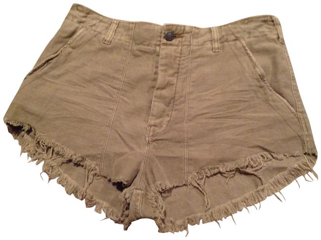 Item - Green Raw Patch Shorts Size 10 (M, 31)