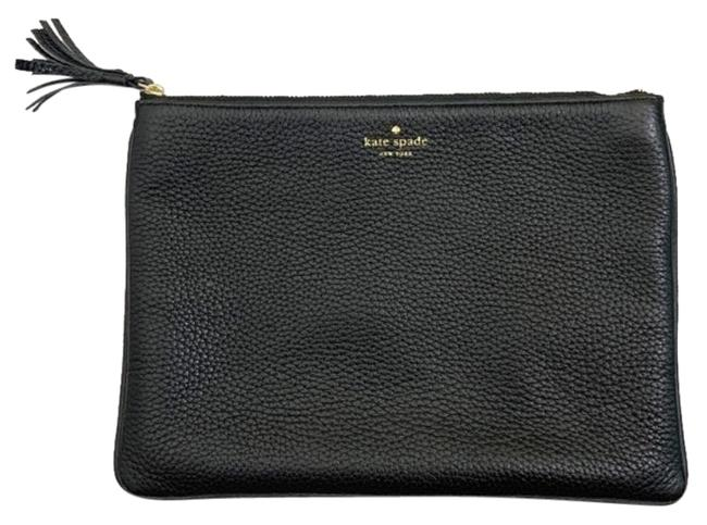 Item - Black Gold Leather Clutch