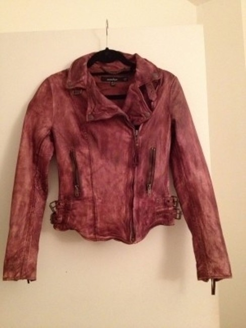 Muubaa Mauve Leather Jacket