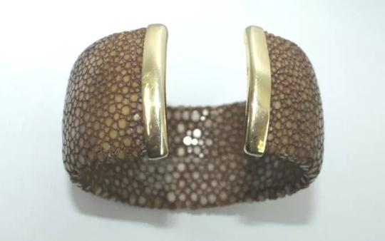 Other HANDCRAFTED GENUINE FULL STINGRAY 925 STERLING SILVER CUFF BRACELET