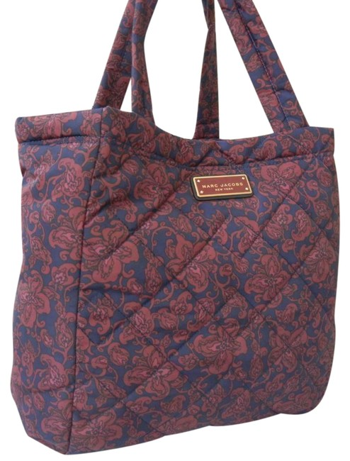 Marc Jacobs Large Quilted Paisley Peacoat Multi Nylon Tote Marc Jacobs Large Quilted Paisley Peacoat Multi Nylon Tote Image 1