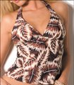 Sunsets Brown Pink Gold - Soft Cup Halter Tankini Size 8 (M) Sunsets Brown Pink Gold - Soft Cup Halter Tankini Size 8 (M) Image 8