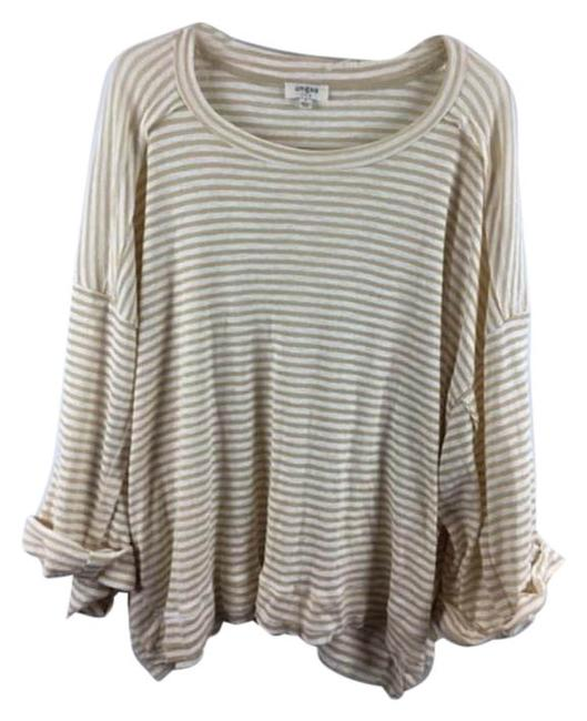 Item - White & Gold L Umgee Striped Long Sleeves Top Shorts Size 00 (XXS, 24)