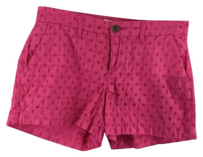 Item - Pink Lace Print Zipper 0 Shorts Size 0 (XS, 25)