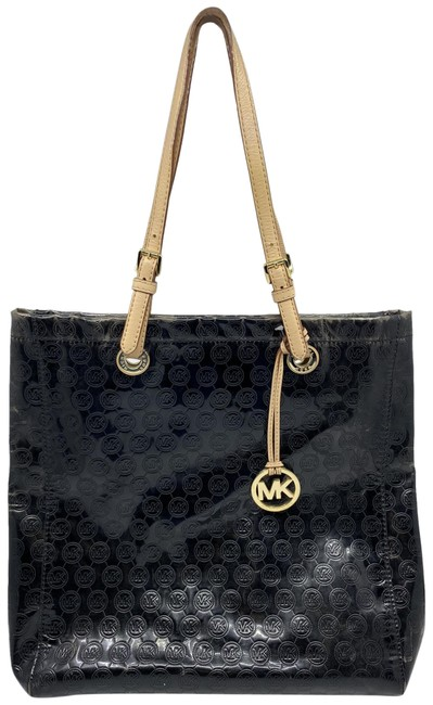 Michael Kors Large Black/Cream Patent Leather Tote Michael Kors Large Black/Cream Patent Leather Tote Image 1