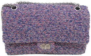 Chanel 2.55reissue Tweed Double Shoulder Bag