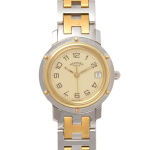 Hermes Hermes Two-Tone Clipper Watch