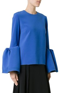 Roksanda Aso Celebrity Royalty Statement Oversize Top Blue