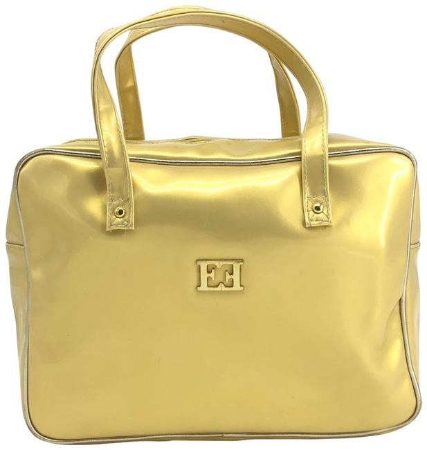 Item - Toiletry Bag Vintage Acte2 Metallic Yellow/Gold Yellow & Gold Patent Leather Tote