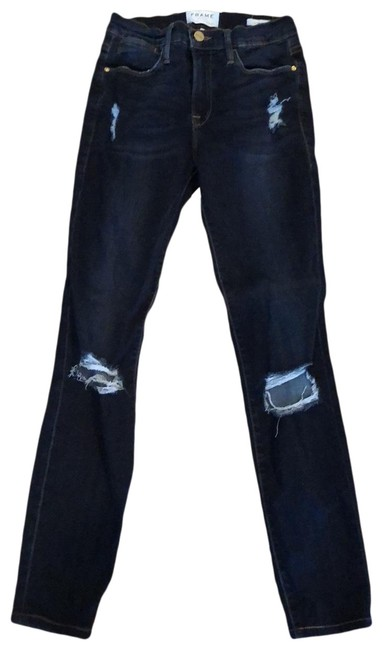 FRAME Distressed Le High Skinny Jeans Size 2 (XS, 26) FRAME Distressed Le High Skinny Jeans Size 2 (XS, 26) Image 1