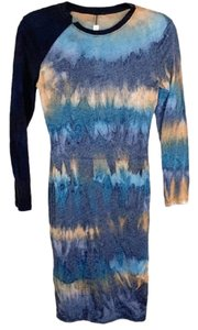 Raquel Allegra short dress Black, Blue on Tradesy