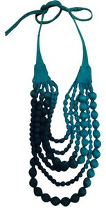 Lord & Taylor New teal fabric necklace