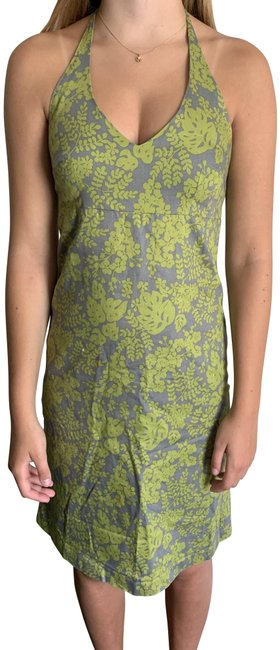 Item - Green and Gray Sundress Mid-length Short Casual Dress Size 4 (S)
