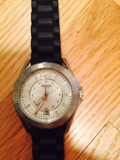 Fossil New Fossil Oversized Silver & Black Watch