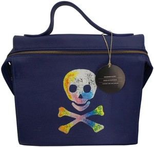 Meira T Handpainted Skull Leather Shoulder New With Cross Body Bag