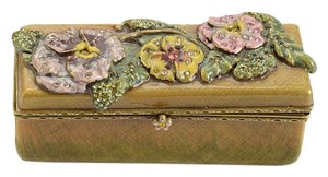 Jay Strongwater RDC10959- Jay Strongwater Floral Enamel & Crystal Lipstick Case