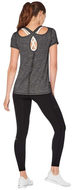 Item - Gray Heathered Black Extra Mile Sleeve Activewear Top Size 2 (XS)
