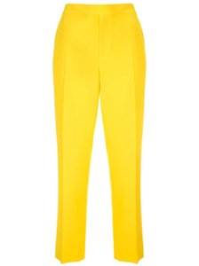 Ralph Lauren Collection High-rise Straight Leg Trouser Pants Yellow
