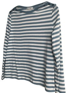 Petit Bateau T Shirt light blue and white
