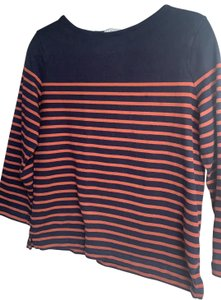 Petit Bateau T Shirt white with blue and pink stripes