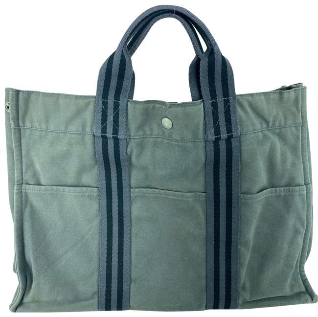Item - Fourre Tout Gm 11her623 Grey Canvas Tote