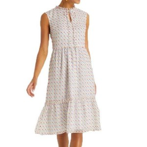 Draper James short dress White Swiss Dot Tiered Ruffle Sleeveless Sundress on Tradesy