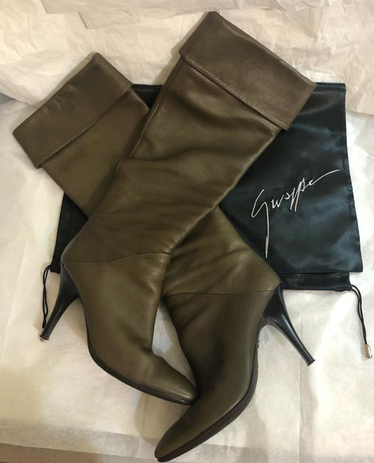 Giuseppe Zanotti Olive Made In Italy Boots/Booties Size US 7.5 Narrow (Aa, N) Giuseppe Zanotti Olive Made In Italy Boots/Booties Size US 7.5 Narrow (Aa, N) Image 9