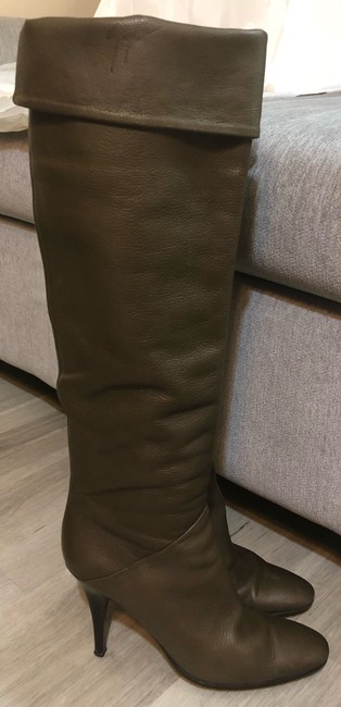 Giuseppe Zanotti Olive Made In Italy Boots/Booties Size US 7.5 Narrow (Aa, N) Giuseppe Zanotti Olive Made In Italy Boots/Booties Size US 7.5 Narrow (Aa, N) Image 2