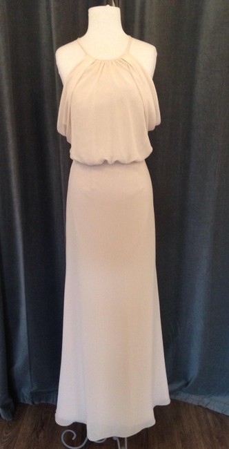 Item - Vanilla Crinkle Chiffon 2510 Deni Feminine Bridesmaid/Mob Dress Size 6 (S)