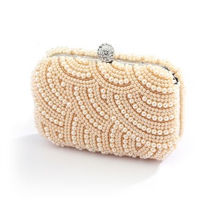 Stunning Pearls Art Deco Minaudiere Bridal Clutch