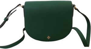 Tory Burch Small Green Leather Cross Body Bag