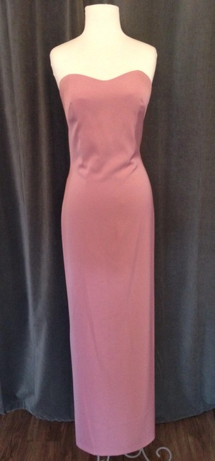 Item - Dusty Rose Stretch Crepe 3803 Regan Modern Bridesmaid/Mob Dress Size 10 (M)